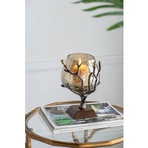 Aluminium Twig Candle Holder