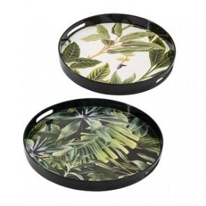 Jungle Palm Trays - Set of 2
