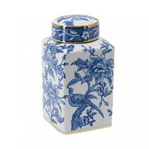 Floral Jar with Lid