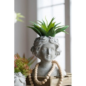 Floral Wreath Bust Planter