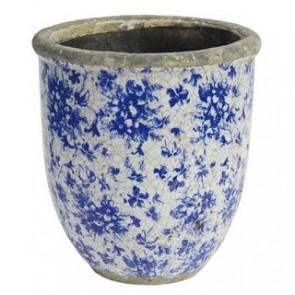 Rustic Blue Floral Planter