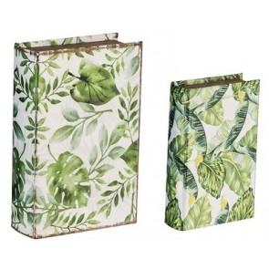 Set of 2 Botanical Book Boxes