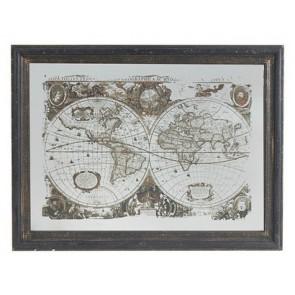 Vintage Style World Map Art