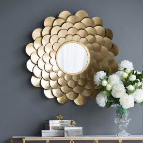 Floral Wall Accent Mirror