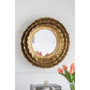 Ashlyn Round Metallic Mirror