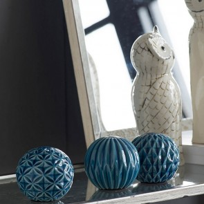 Set of 3 Ceramic Ball Accents