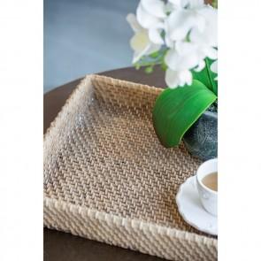 Woven Rattan Decorative Tray