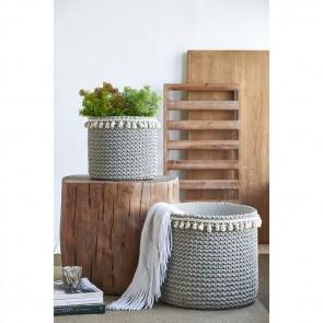 Set of 2 Rattan Sage Green Baskets