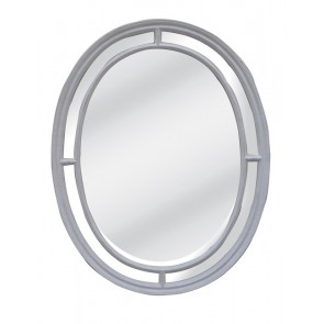 Oval Grey Mirror