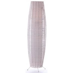 Rattan Table Lamp White Wash