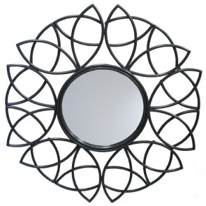 Metal Floral Mirror