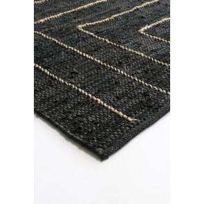 Mulberi Tunja Floor Rug - Black/Natural