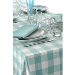 Lagoon Aqua Vichy Tablecloth