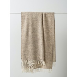 Twill Wool Throw with Fringe