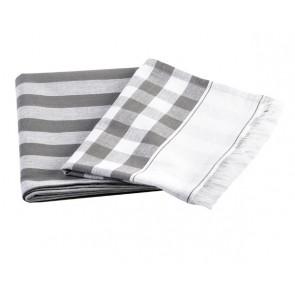 Buffalo Fringe Tea Towel Grey Set of 4