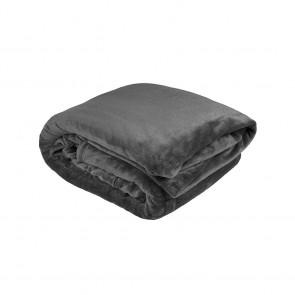 Ultraplush Blanket by Bambury - Charcoal