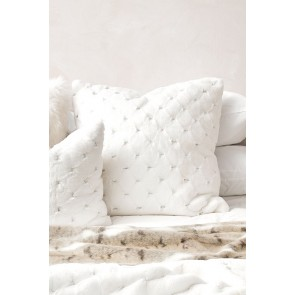 Heirloom Valentina White Square Cushion - 65cm