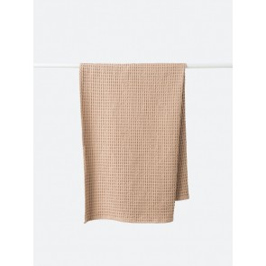 Waffle Organic Cotton Bath Towel - Latte