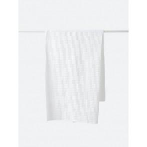 Waffle Organic Cotton Bath Towel - White