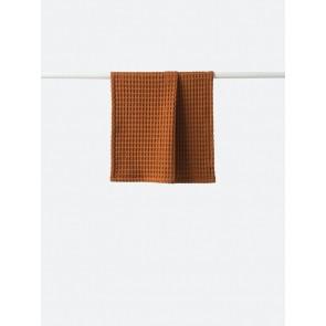 Waffle Organic Cotton Hand Towel Chestnut - 4 Pack