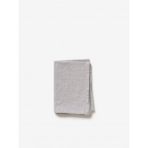 Washed Cotton Tea Towel Grey - 4 Pack