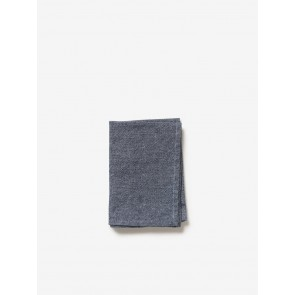 Washed Cotton Tea Towel Navy - 4 Pack