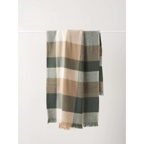 Weekend Wool Throw Sage/Walnut