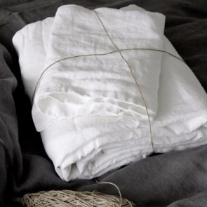 French Linen Sheet Set - Pure White
