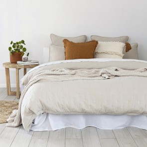 Willare Quilted Duvet Cover Set by Bambury - Pebble