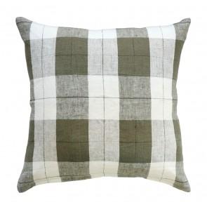 Mulberi 100% Linen Willis Olive-Ivory Cushion