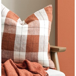 Mulberi 100% Linen Willis Tobacco-Ivory Cushion