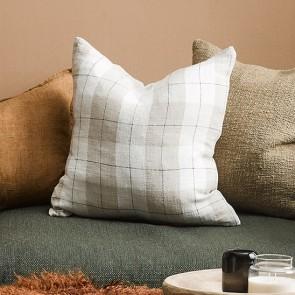 Mulberi 100% Linen Willis Nougat-Ivory Cushion
