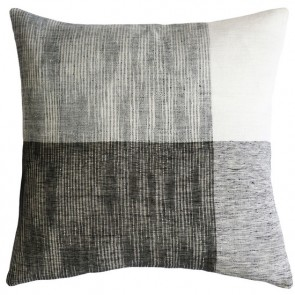 Mulberi 100% Linen Wilson Black-Ecru Cushion