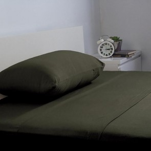 BedT 100% Cotton Sheet Set by Bambury - Olive