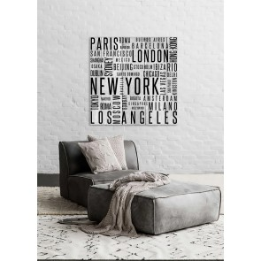 Wood Panel Art Cities in Print