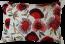 Mulberi Pohutukawa Bunches Embroidered Cushion