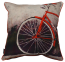Mulberi Front Bike Wheel Red Multi Cushion -  Mulberi Cushion