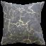 Mulberi Montague Caterina Indigo Blue-Gold Foil Cushion