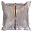 Alligator - Rose Gold-Natural Cow Hide Cushion
