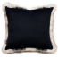 Reverse Heirloom Mountain Wolf Square Cushion