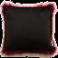 Reverse Heirloom Red Pheasant Square Cushion
